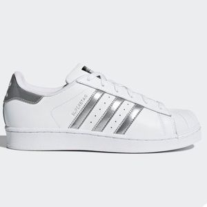 adidas Shoes - Adidas superstar sneakers silver 7.5
